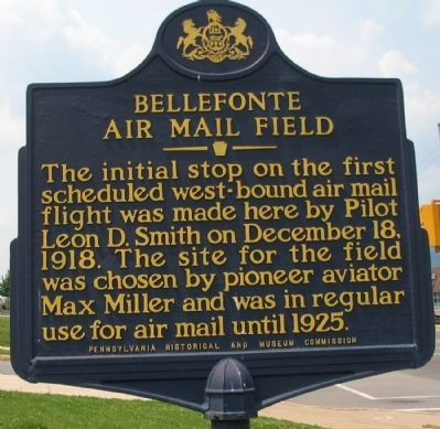 Bellefonte Air Mail Field Marker image. Click for full size.