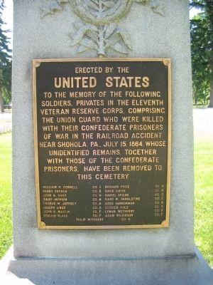 Federal Side of Memorial image. Click for full size.