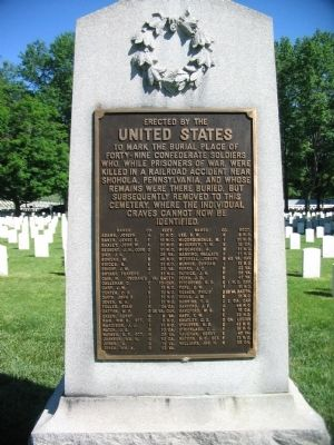 Confederate Side of Memorial image. Click for full size.