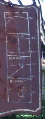 Close Up of Map on Right Side of Marker image. Click for full size.