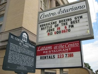 Centro Asturiano Signs and Historical Marker image. Click for full size.