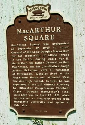 MacArthur Square Marker image. Click for full size.