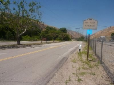 A side trip down the old Ridge Route to find and see the Fort Tejon Marker image. Click for full size.