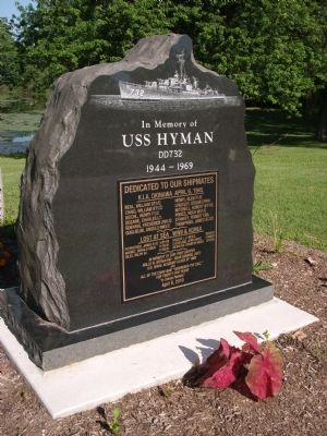 USS Hyman DD732 Marker Photo, Click for full size