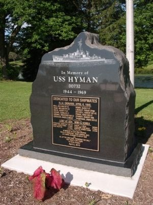 Other View - - USS Hyman DD732 Marker Photo, Click for full size