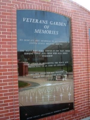 Center Panel - - Veterans Garden of Memories Marker image. Click for full size.