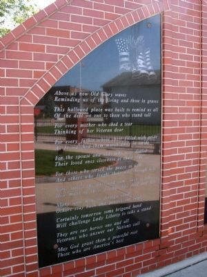 Left Large Panel - - Veterans Garden of Memories Marker image. Click for full size.