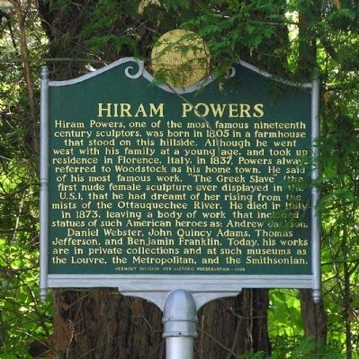 Hiram Powers Marker image. Click for full size.