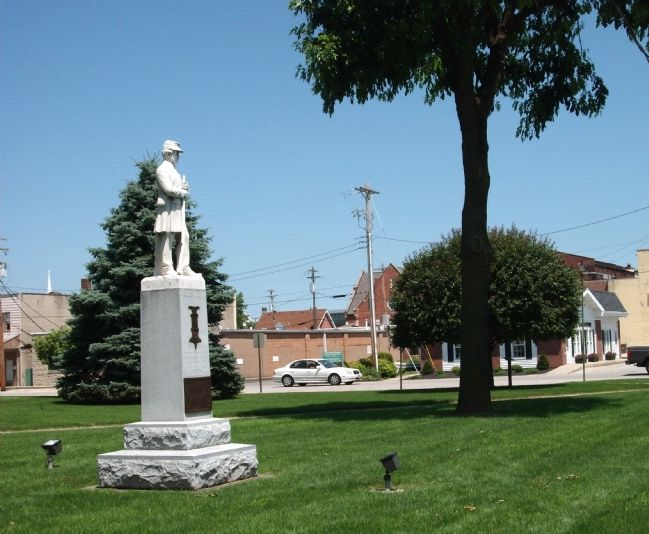 Left View - - Civil War Memorial - Shelby County Indiana Marker image. Click for full size.