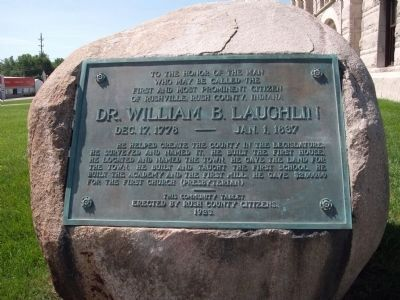 Dr. William B. Laughlin Marker image. Click for full size.
