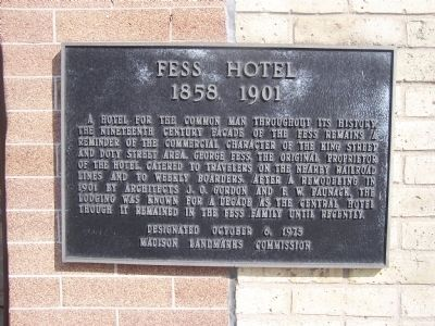 Fess Hotel Marker Photo, Click for full size