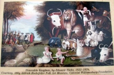 <i>The Peaceable Kingdom</i> Photo on Marker image. Click for full size.
