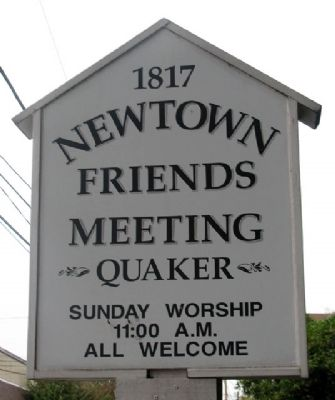 Friends Meeting Sign image. Click for full size.