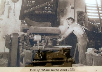 Bobbin Works Photo on Marker image. Click for full size.
