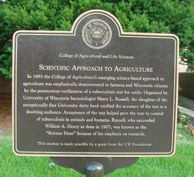 Scientific Approach to Agriculture Marker image. Click for full size.