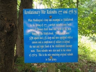 Revolutionary War Reboubt 1777 and 1778/79 Marker Photo, Click for full size