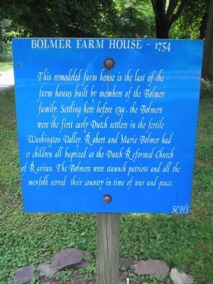 Bolmer Farm House - 1754 Marker image. Click for full size.
