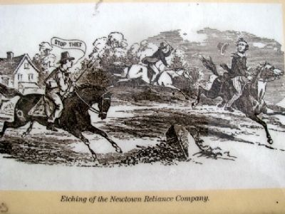 Newtown Reliance Co. Image on Marker image. Click for full size.