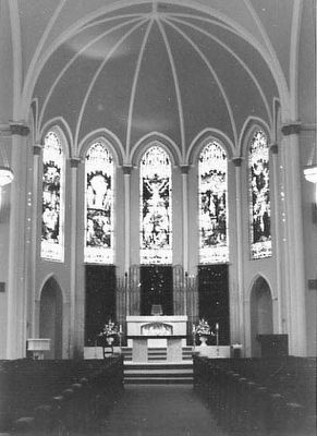 St. Peter's Roman Catholic Church, altar image. Click for full size.