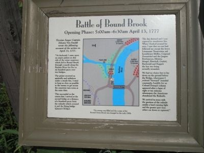 Battle of Bound Brook Marker image. Click for full size.