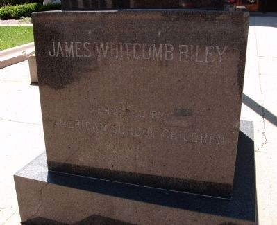 James Whitcomb Riley Marker image. Click for full size.