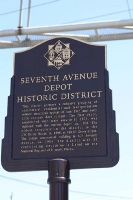 Seventh Avenue Depot Historic District Marker image. Click for full size.