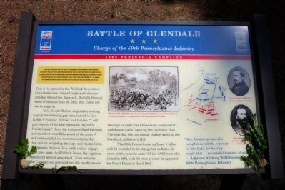 Battle of Glendale CWT Marker Photo, Click for full size