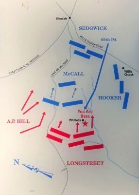 Battle of Glendale Map Photo, Click for full size