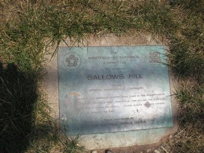 Gallows Hill Marker image. Click for full size.