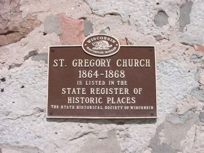 St. Gregory Church Marker Photo, Click for full size