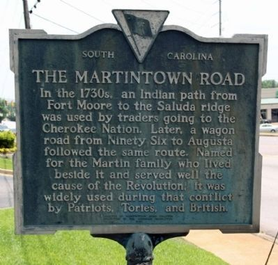 The Martintown Road Marker image. Click for full size.