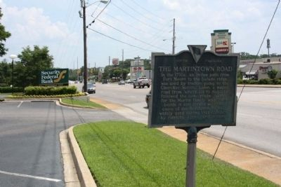 The Martintown Road Marker, looking southward image. Click for full size.