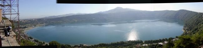 Panoramic View of Lake Albano image. Click for full size.