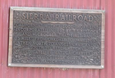 Sierra Railroad Marker image. Click for full size.