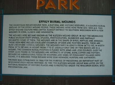 Effigy Burial Mounds Sign image. Click for full size.