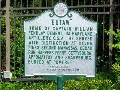Eutaw Marker Photo, Click for full size