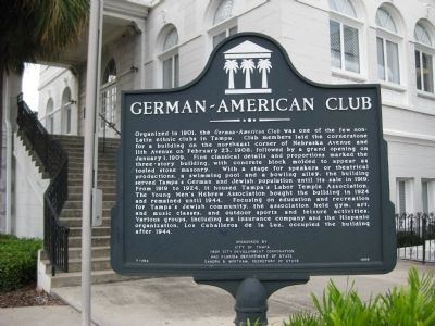 German-American Club Marker image. Click for full size.
