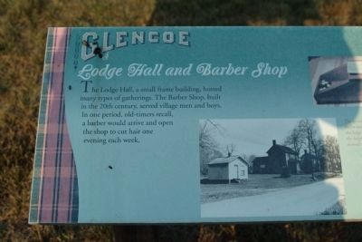 Glencoe - Lodge Hall and Barber Shop Marker image. Click for full size.