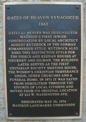 Gates of Heaven Synagogue Marker image. Click for full size.