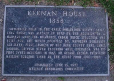 Keenan House Marker image. Click for full size.