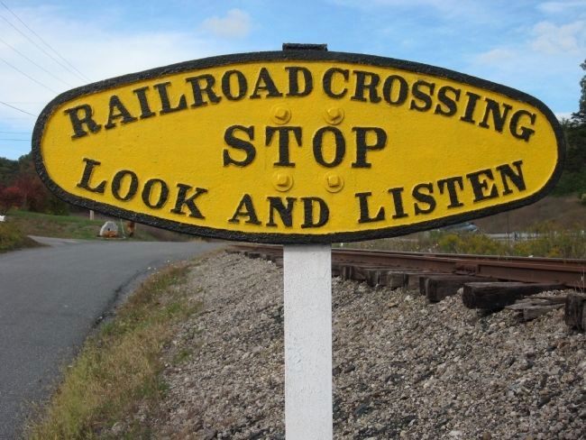 East Broad Top Railroad Crossing Warning. image. Click for full size.