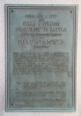 Stars & Stripes First Flew in Battle Marker image. Click for full size.