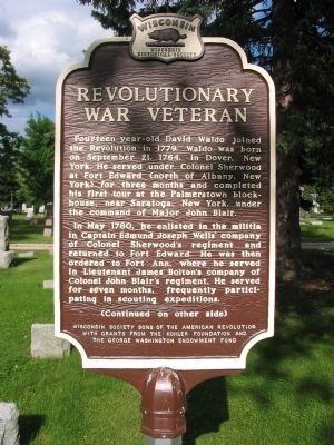 Revolutionary War Veteran Marker image. Click for full size.