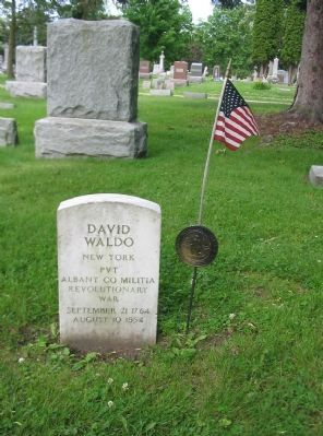 David Waldo Gravestone image. Click for full size.