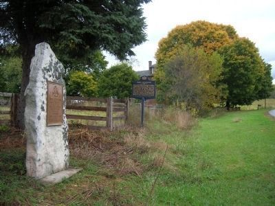 Two Fort Littleton Markers image. Click for full size.