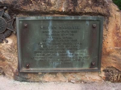 William Marshall Marker Photo, Click for full size