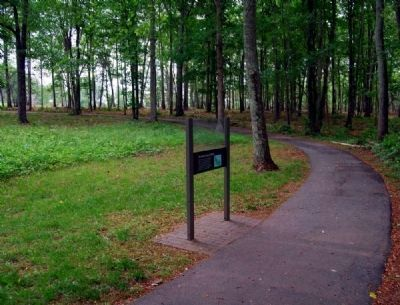 Form the Line of Battle Marker -<br>Paved Walking Path Leading to the Marker image. Click for full size.