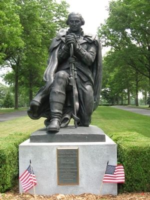 George Washington Kneeling in Prayer image. Click for full size.