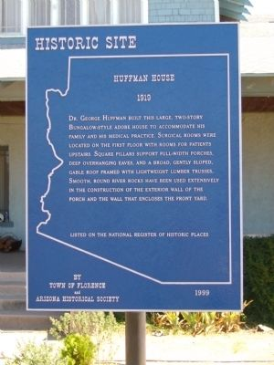 Huffman House Marker image. Click for full size.