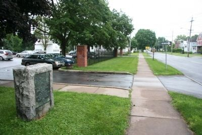 The Rear Guard of General Herkimers Army Marker image. Click for full size.